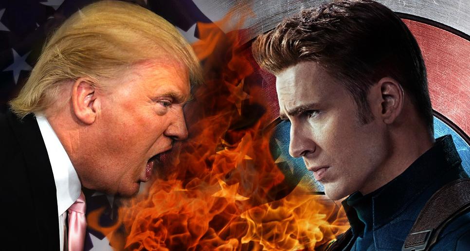 Captain America VS President Trump - Chris Evans feels 'Rage